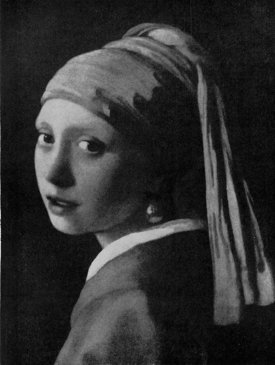 Ян Вермеер. Головка девочки. Фрагмент. Начало 1660-х гг. Гаага, Маурицхейс.