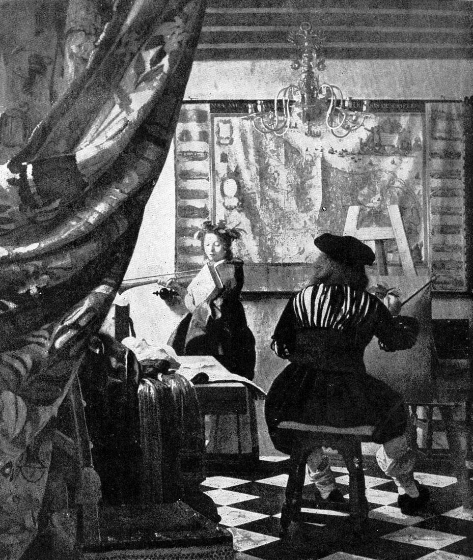 Ян Вермеер. Мастерская живописца. Ок. 1665 г. Вена, Художественно-исторический музей.