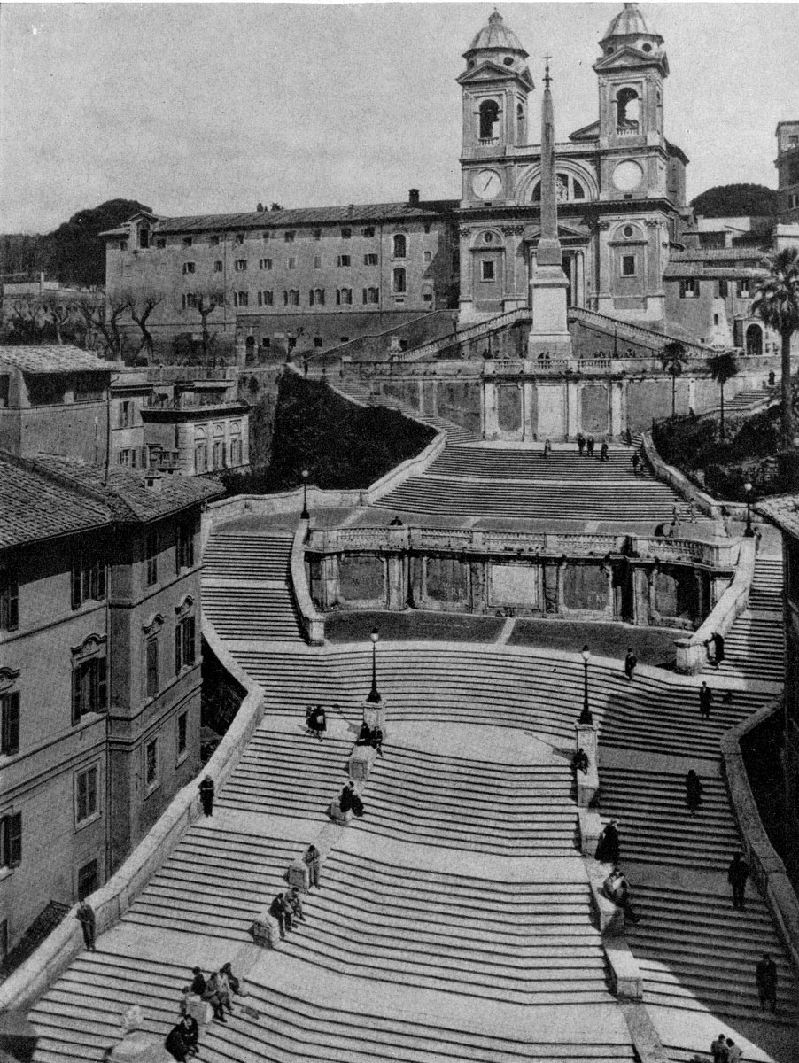 Алессандро Спекки и Франческоде Санктис. Лестница Испанской площади в Риме. 1721-1726 гг. Общий вид.