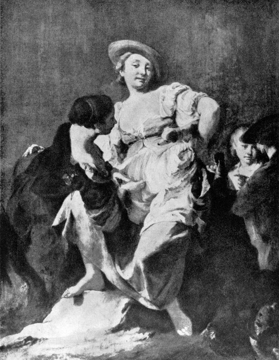 Джованни Баттиста Пьяцетта. Гадалка. Ок. 1740 г. Венеция, галлерея Академии.