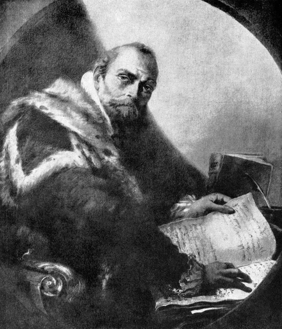Джованни Баттиста Тьеполо. Портрет Антонио Риккобоно. Ок. 1745 г. Ровиго, Академия Конкорди.