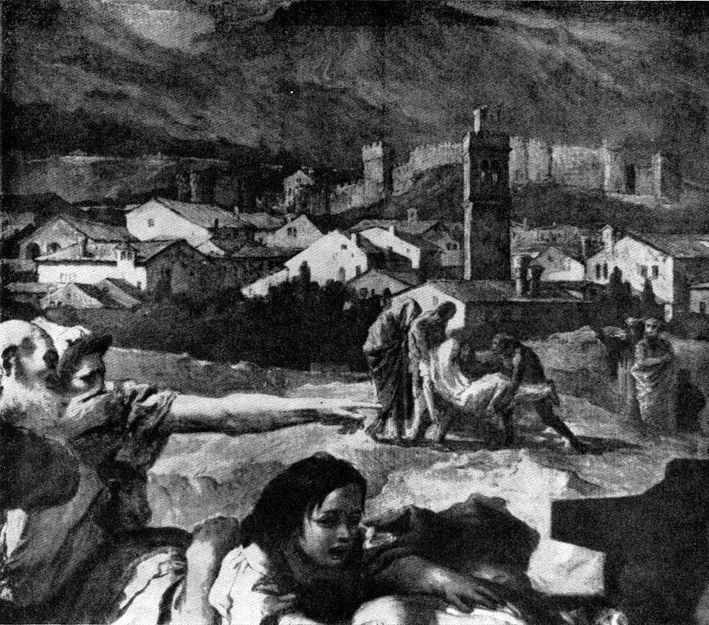 Джованни Баттиста Тьеполо. Св. Текла избавляет город Эсте от чумы. Фрагмент. Ок. 1759 г. Эсте, собор.