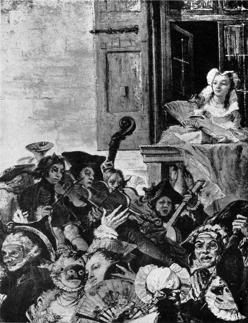 Джованни Баттиста Тьеполо и Джованни Доменико Тьеполо. Менуэт. Фрагмент. 1757 г. Париж, Лувр.