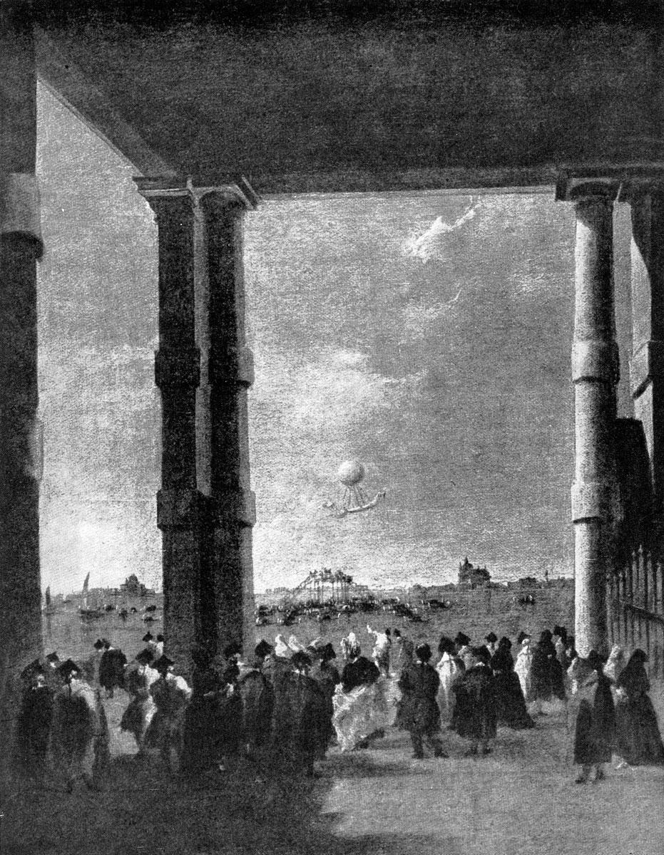 Франческо Гварди. Подъем воздушного шара в Венеции. 1784 г. Берлин.