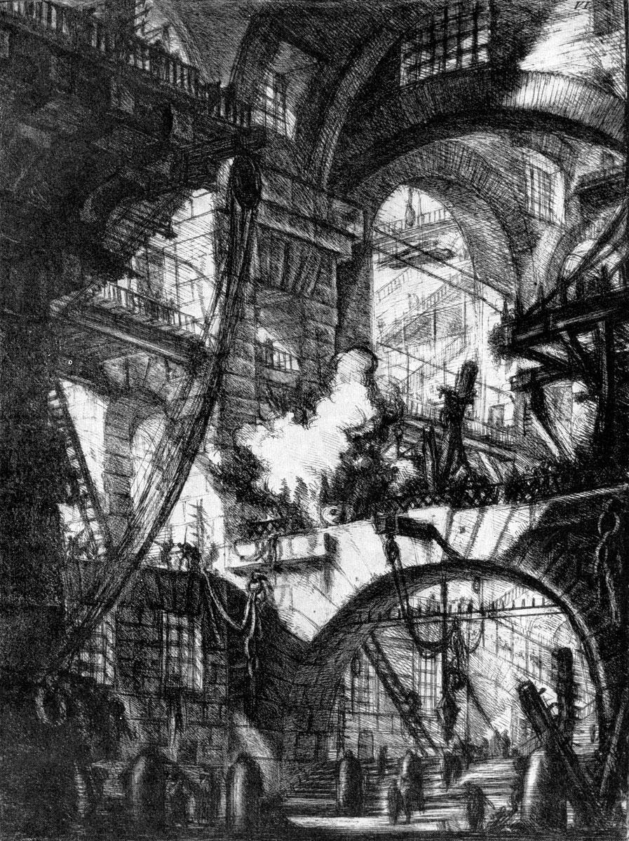 Джованни Баттиста Пиранези. Офорт из серии «Темницы». 1745/50- 1761 гг.
