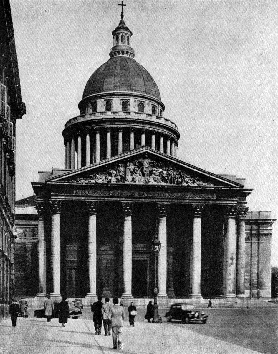 В париже начат в 1755 г общий вид