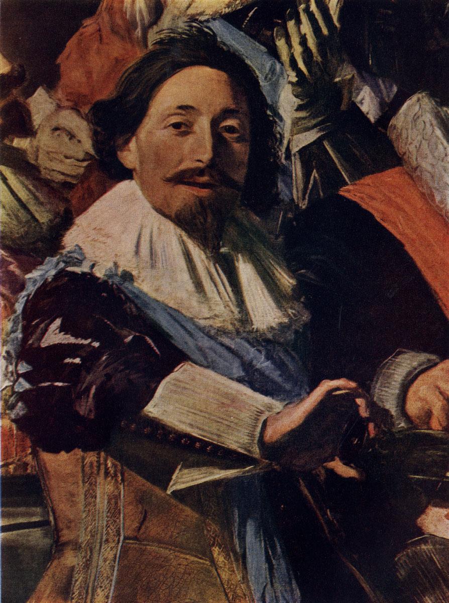 Франс Хальс. Групповой портрет офицеров стрелковой роты св. Георгия. Фрагмент. 1627 г. Гарлем, музей Франса Халъса.