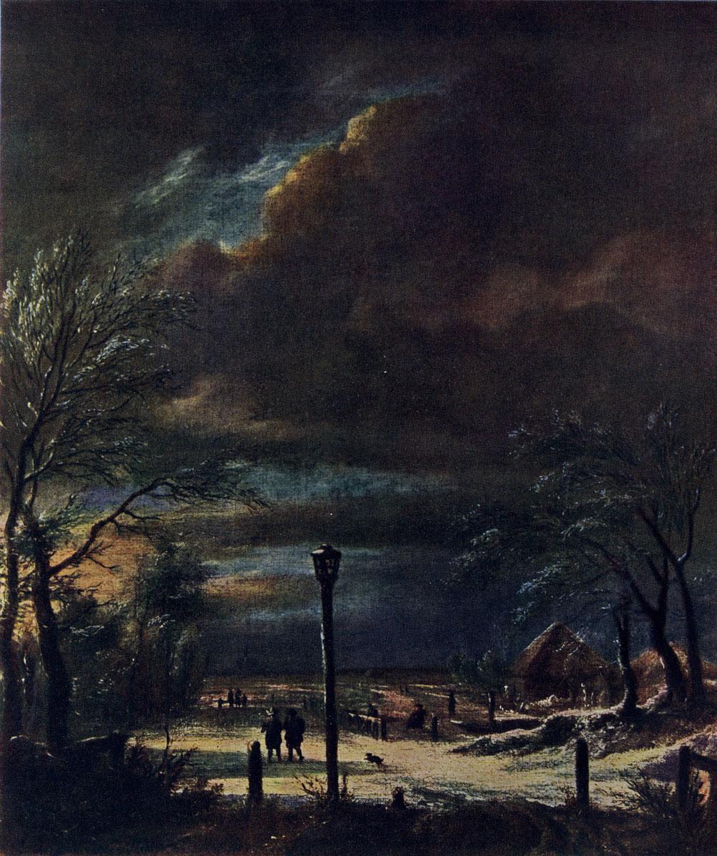 Якоб ван Рейсдаль. Зима. 1660-е гг. Франкфурт-на-Майне, Штеделевский институт.