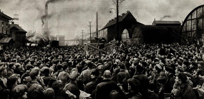 3. И. Бродский. Выступление В. И. Ленина на Путиловском заводе в 1917 году. 1926