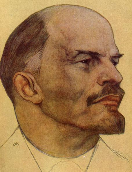 Н. Андреев. В. И. Ленин. 1922