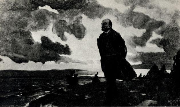 8. А. Рылов. В. И. Ленин в Разливе. 1934