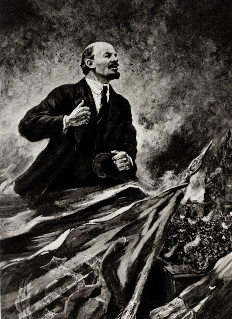 9. А. Герасимов. В. И. Ленин на трибуне. 1930