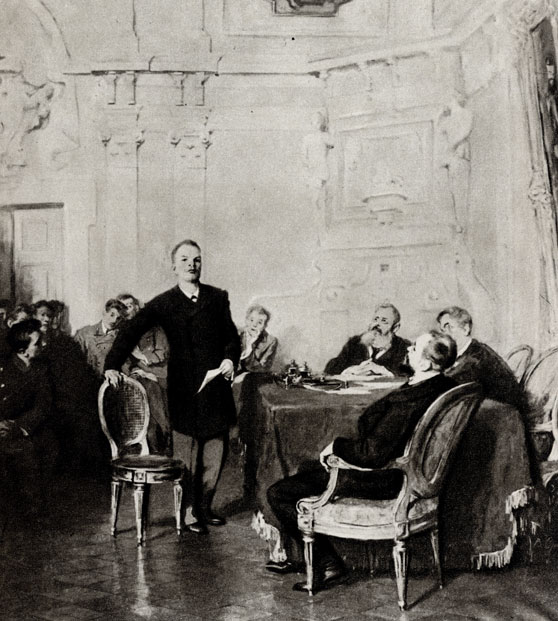 13. В. Орешников. В. И. Ленин на экзамене в университете. 1947