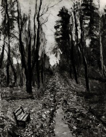 19. B. Бялыницкий-Бируля. Аллея кленов в Горках. 1924.