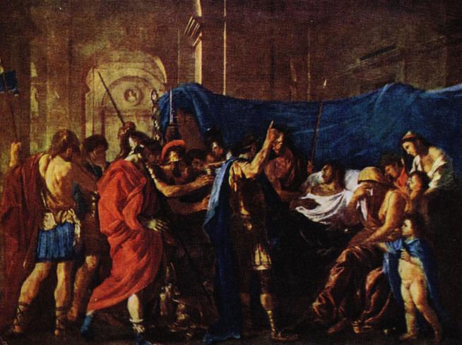 Пуссен. Смерть Германика. 1627. Миннеаполис. Институт искусств