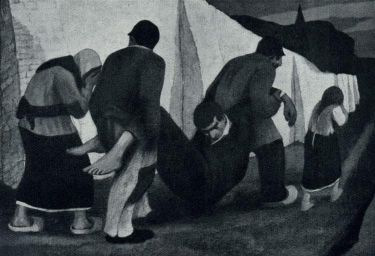 Эжен Ларманс. Смерть. 1904 г. Брюссель, Музей современного искусства.