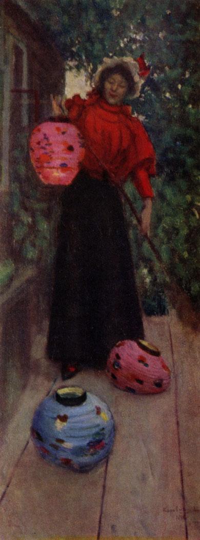 К. А. Коровин. Бумажные фонари. 1898 г. Москва, Третьяковская галлерея