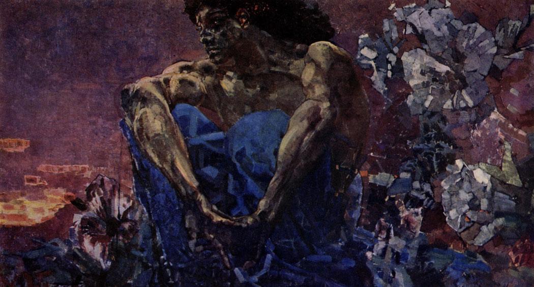 М. А. Врубель. Демон (сидящий). 1890 г. Москва, Третьяковская галлерея