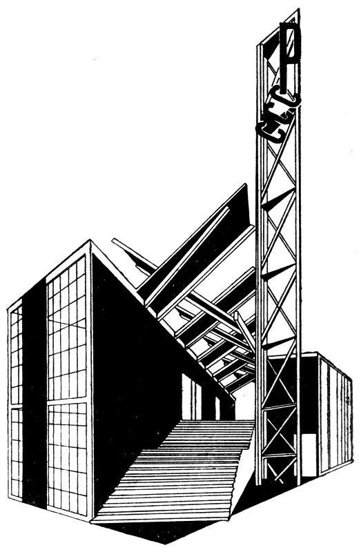 К. С. Мельников. Проект павильона СССР на Международной выставке декоративных и прикладных искусств в Париже. 1925 г.