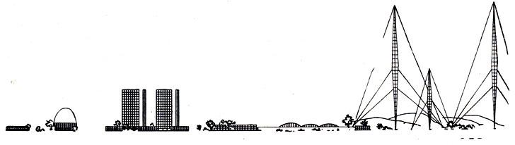 И. И. Леонидов. Проект «Социалистического расселения при Магнитогорском комбинате». 1930 г.