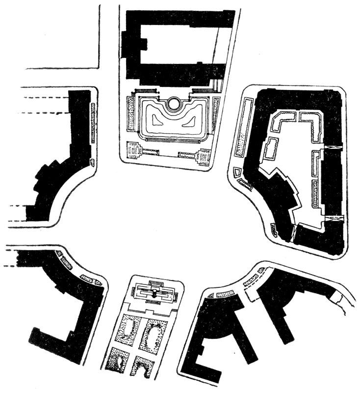 А. И. Таманян. Площадь Ленина в Ереване. 1926 г. План
