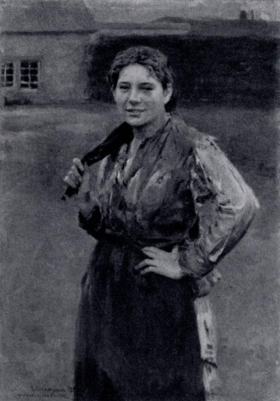 Н. А. Касаткин. Шахтерка. 1894 г. Москва, Третьяковская галлерея