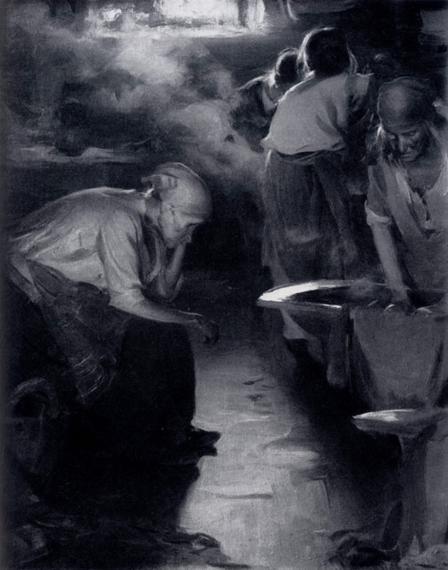 А. Е. Архипов. Прачки. 1901 г. Москва, Третьяковская галлерея