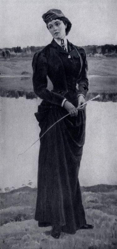 М. В. Нестеров. Портрет О. М. Нестеровой-Шретер. 1906 г. Ленинград, Русский музей