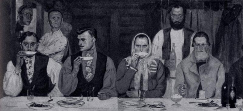 А. П. Рябушкин. Чаепитие. 1903 г. Москва, частное собрание