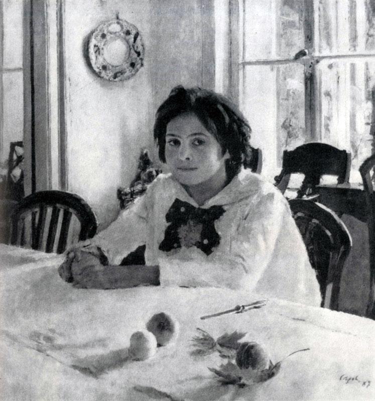 В. А. Серов. Девочка с персиками. 1887 г. Москва, Третьяковская галлерея.