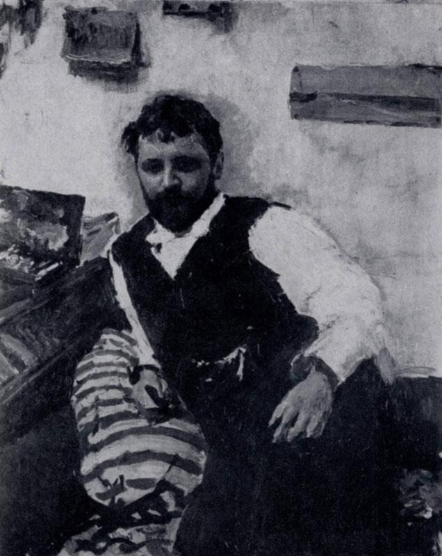 В. А. Серов. Портрет К. А. Коровина. 1891 г. Москва, Третьяковская галлерея