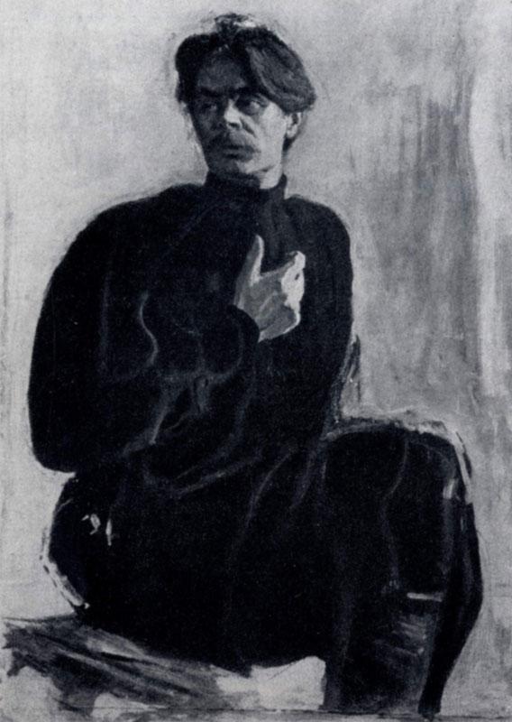 В. А. Серов. Портрет А. М. Горького. 1904 г. Москва, Музей А. М. Горького