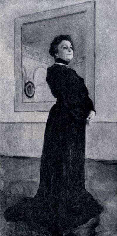В. А. Серов. Портрет М. Н. Ермоловой. 1905 г. Москва, Третьяковская галлерея