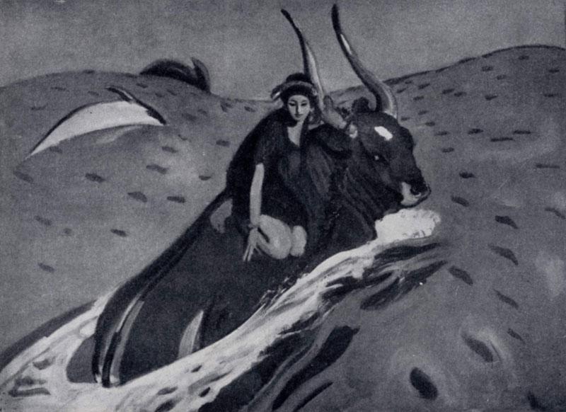 В. А. Серов. Похищение Европы. 1910 г. Москва, Третьяковская галлерея