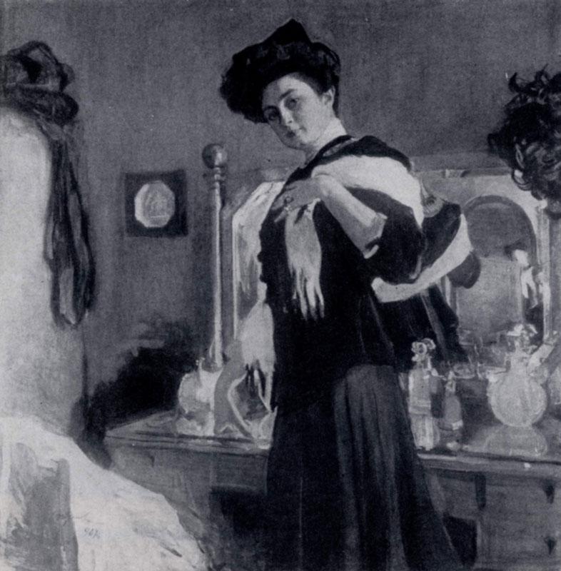 В. А. Серов. Портрет Г. Л. Гиршман. 1907 г. Москва, Третьяковская галлерея