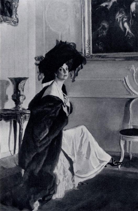 В. А. Серов. Портрет О. К. Орловой. 1911г. Ленинград, Русский музей