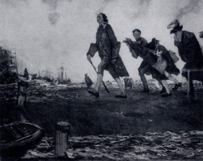 В. А. Серов. Петр I. 1907 г. Москва, Третьяковская галлерея