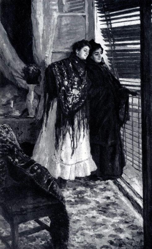 К. А. Коровин. У балкона. Испанка Леонора и Ампара. 1886 г. Москва, Третьяковская галлерея
