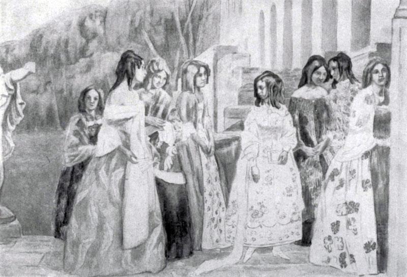 В. Э. Борисов - Мусатов. Реквием. 1905 г. Москва, Третьяковская галлерея