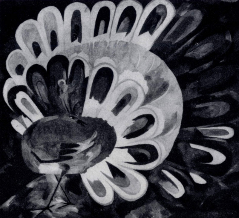 Н. С. Гончарова. Павлин под ярким солнцем. 1911 г. Москва, Третьяковская галлерея
