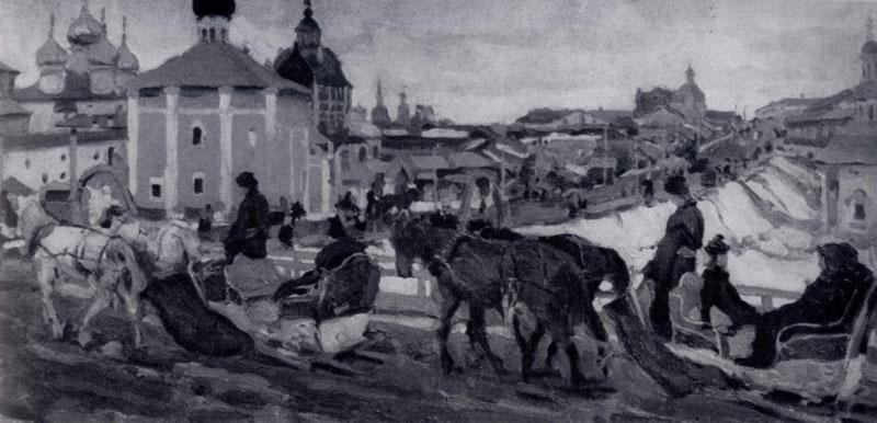 К. Ф. Юон. К Троице. 1903 г. Москва, Третьяковская галлерея