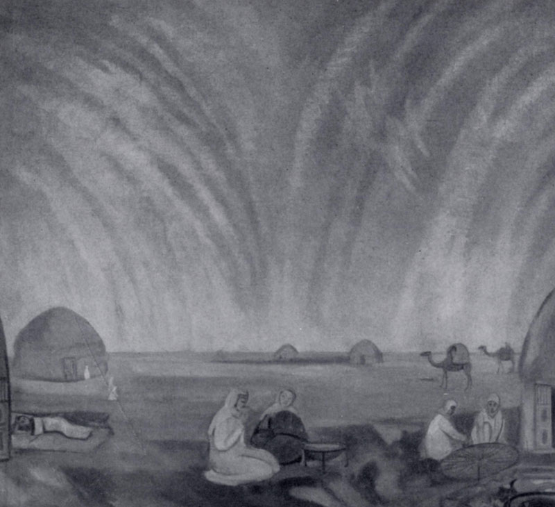 П. В. Кузнецов. Мираж в степи. 1912 г. Москва, Третьяковская галлерея