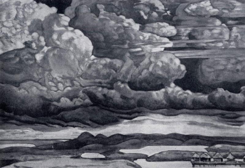 Н. К. Pepих. Небесный бой. 1909 г. Ленинград. Русский музей