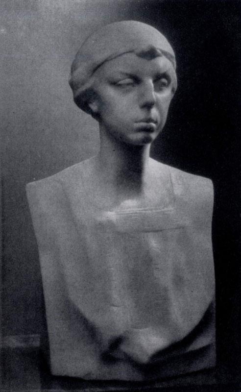 А. С. Голубкина. Портрет Е. П. Носовой. Мрамор. 1912 г. Ленинград, Русский музей