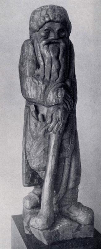 С. Т. Коненков. Старичок-полевичок. Дерево. 1909 — 1910 гг. Москва, Третьяковская галлерея