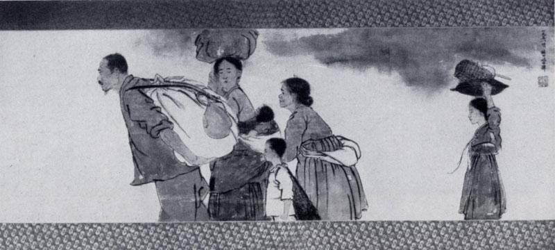 Южной кореи бумага цветная тушь 1958 г
