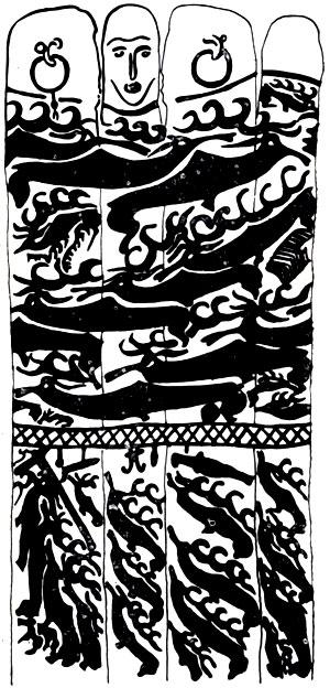 Развернутая композиция на 'оленных камнях'