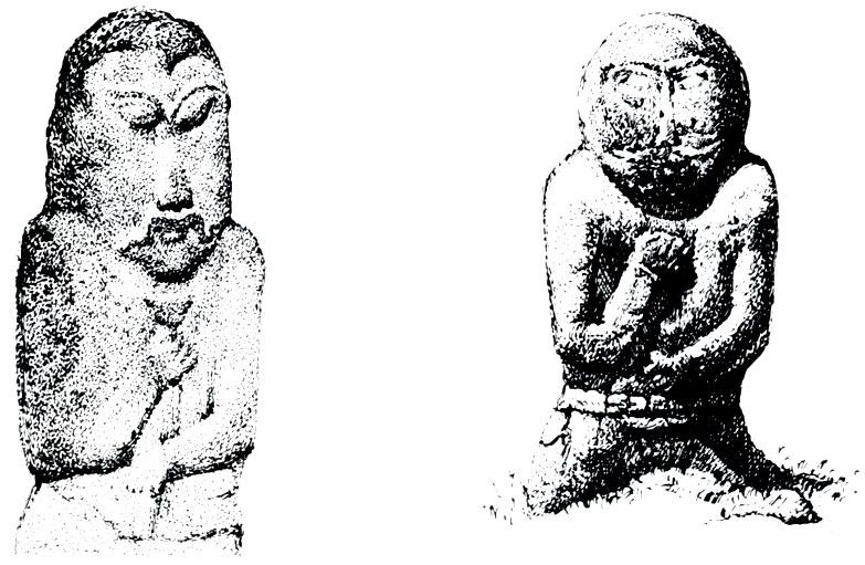 Каменные изваяния тюркского времени, найденные на территории МНР. VI—VIII вв.