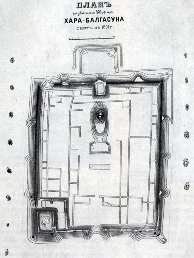 План дворца Хар-балгаса. VIII в.
