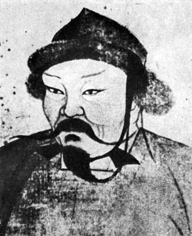 Портрет Угэдэй-хана. Живопись на шелке. XIII в. Местонахождение неизвестно